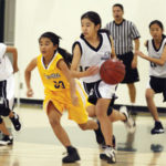 Basketball Up the Lane (2 Court Gymnasium)