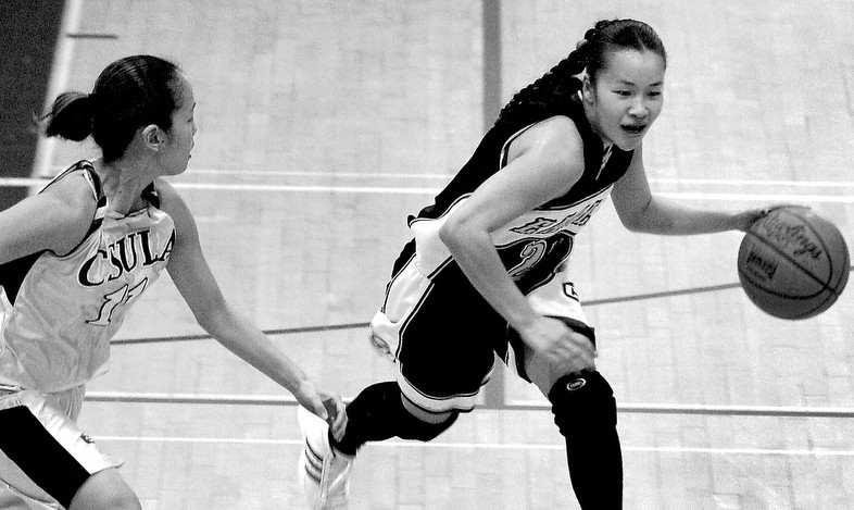 Monica Quan Basketball BW by Terasaki Budokan