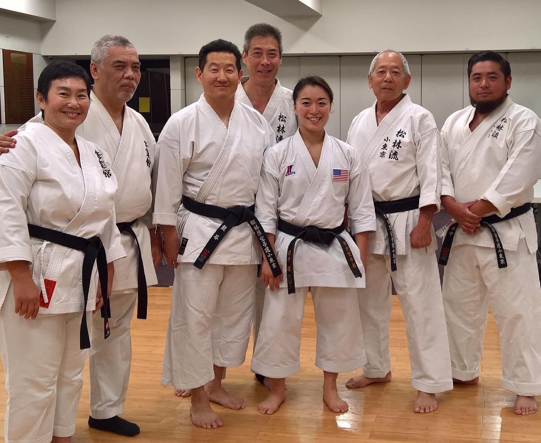 Karate group photo at Terasaki Budokan